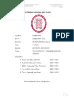 Informe de calsificación y permeabilidad