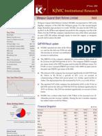 2009-06-03 KJMC Institutional Research Welspun Result Update