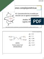 2.6 Equilibrios de formación de complejos (2) -Valoraciones complejométricas