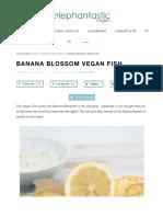 Banana Blossom Vegan Fish Recipe   Elephantastic Vegan