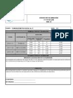 Termohigrometro No. 27 vs calibración  ya