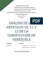 análisis de los articulos 10, 11, y 12 Abraham Lovera 26.546.158