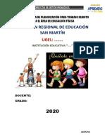 PLAN DE TRABAJO REMOTO DOCENTE 2020