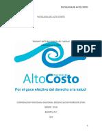 PATOLOGIA DE ALTO COSTO