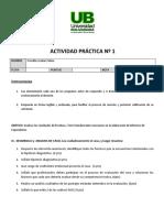ACTIVIDAD  PRÁCTICA N° 1- EV. Diagnóstica. NEE II