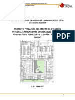 ESTUDIO DE GESTION DE RIESGOS EN LA PLANIFICACION DE LA EJECUCION DE OBRA