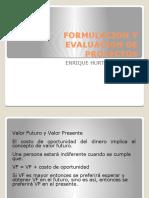 FORMULACION Y EVALUACION DE PROYECTOS EHG