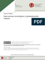 INNOVACIONES tecnologicas y planetarizacion cultural Patricia Terrero