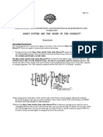 Harry Potter Promotional Requirements