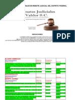 Remates Judiciales en el D.F.