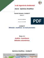 4ta  semana. Unidad II. Tema 1  Analisis volumetricos QA 24 jun