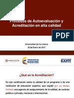 Presentación conferencia Procesos de autoeval. y acreditación en alta calidad
