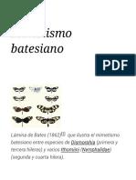 Mimetismo batesiano - Wikipedia, la enciclopedia libre