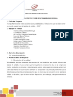 ESQUEMA DEL PROYECTO DE INTERVENCION SOCIAL