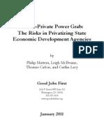 Good Jobs First Power Grab Study