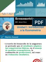 Econometría Primera Unidad