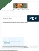 Adverbios tipos - LENGUA Y LITERATURA FÁCIL