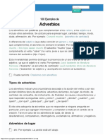 100 Ejemplos de Adverbios (explicado)