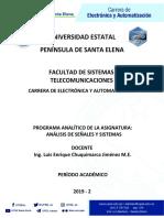 Programa analitico analisis de señales y sistemas