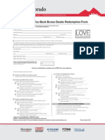 Dacor - Love You Back Bonus Dealer Redemption Form