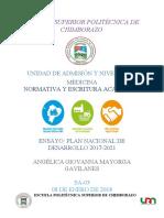 ENSAYO_PLAN_DE_DESARROLLO_NACIONAL