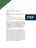 Collymore Appeal New Century Originator US Bank securities trustee