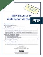 Condition de  Droit d Auteur Et Reutilisation