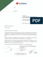Droit de réponse du CSE de CMM Automobiles
