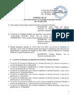 Ordinea de zi a ședinței CMC din 02.07.2020
