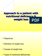 Approach to Patient With Nutritional Deficiency & Weight Loss