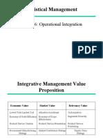 Logistics Chapter No 06 - Operational Integration.ppt