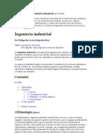 Definiciones de Ingeniería industrial en la web