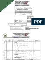 FORM 10 ORGANISASI Struktur Keselamatan Dan Kebakaran Gedung ( K2G) RSUD Munyang Kute Redelong