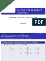 Integration Partie VI Approximation D'integrales