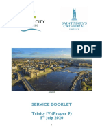 Order of Service 5th July 2020 (Trinity IV)
