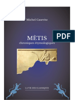 CASEVITZ Michel Chronique métis intégrale
