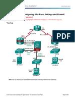 9.3.1.2 Lab - Configure ASA Basic Settings and Firewall Using CLI_Instructor