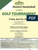 Cal Poly Women's Basketball 2010 Golf Tournament Flyer