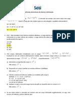 Exercícios sobre partículas e eletrização - parte 2