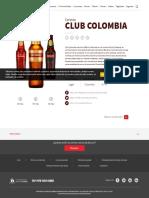 Características de la cerveza Club Colombia Dorada _ Bavaria