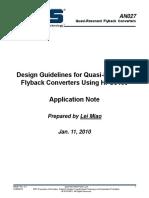 Design Guidelines for Quasi-Resonant Flyback Design