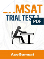 GAMSAT Trial Test 1 Answers