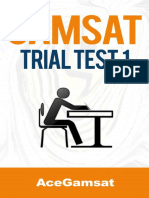 GAMSAT Trial Test 1 Questions 1
