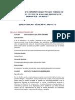 ESPECIFICACIONES TECNICAS PISTAS HUACCANA