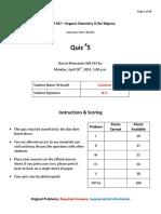 2014Sp-Quiz5-Solutions