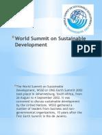 World Summit on Sustainable Development (Presentation)