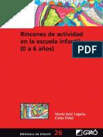 Rincones de Actividad en La Escuela Infantil (0-6 Años)