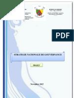 stratégie secteur gouvernance