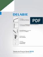 Delabie Senda 2019 - Tabela de preços