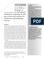 Advantages of probabilistic over deterministic method for estimating oil & gas reserves